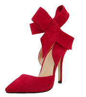 Big Bowknot Heels High Heels Sandals Women Bow Tie Pumps Sol...