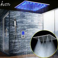 Popular Large Ducha Shower System 20 Inch Led Mist Rain ShowerHead Ceiling Shower Panel Smart Thermostatic Mixer  Handheld Shower