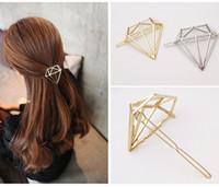 Vintage Europäischen Hohl Diamant Haarspangen Frauen Mädchen Party Haarschmuck Zubehör Metall Goldene Haarnadeln Haarspangen