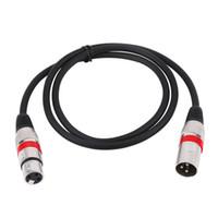 Freeshipping Yeni 3Pin XLR Kablo Erkek Kadın M / F Ses Kablosu Korumalı Kablo Mikrofon Mikser Kablo Için