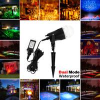 Proiettori di luce fiamma rotante laser, impermeabile di Natale Paesaggio Spotlight Proiezione LED Light Show per interni, decorazione esterna