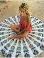 Bohemian Mandala Tapisserie de plage Hippie Boho Throw Yoga Mat Round Beach Shawl Toile Manteau Sarongs Couvre-lit Outdoor Pincnic Pad