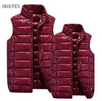 Gros- vêtements de marque OKOUFEN hiver Chaleco hombre Mode casual veste vers le bas Slim mens vestM-4XL chaud