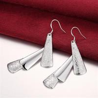도매 - 최저 가격 크리스마스 선물 925 스털링 실버 패션 귀걸이 E015