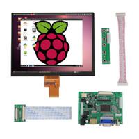 Display LCD da 8 pollici Schermo 1024x768 Monitor ad alta risoluzione Scheda di controllo del driver remoto 2AV HDMI VGA per Raspberry Pi PS3 / 4