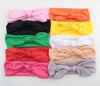 Baby Kids Bow Bow Headband Rabbit Ears Hair Band Turban Knot Head Wrap YH403