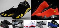 2018 Top Quality 14s Basketball Shoes 14 Hommes Indiglo Oxydé Vert Tonnerre Black Toe Cool Chaussures de sport gris taille 23 35 47