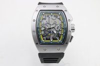 Высокое качество MAN 011 часов черный резиновый серебристый корпус 6-контактный автоматический механический многофункциональный штифт пряжки зеленое внутреннее кольцо