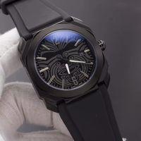 الكل الأسود جودة عالية تصميم الأزياء الساعات الفاخرة الرجال الرياضة ساعة اليد كوارتز ساعة الأعمال التجارية مشاهدة أفضل هدية للرجال