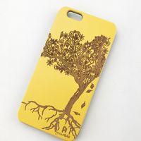 Ui on Sales Superior Colorful Coating Telefono in legno Casi per iPhone 6 7 8 Plus 11 12 Pro Max Laser Engraving Pattern Carino albero