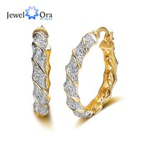 Classic Gold Plated Zircon Luxurious Hoop Earrings For Women...