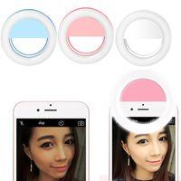 2018 Evrensel Lüks Akıllı Telefon LED Flaş Işık Up Selfie Aydınlık Telefon Halkası iPhone için iPhone için USB Şarj Ile Android