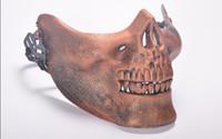 Divertente Paintball PVC Airsoft Maschere spaventosa Scheletro Skull Mask Protettivo Halloween Carnevale Capodanno Capodanno di alta qualità 5 colori