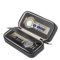 Молнии Роскошный Чехол Для Хранения Организатор Кожзаменитель 2 Слота Часы Box Case Бумажник Дизайн Хранения Часы Путешествия Box Спорт Легко