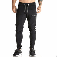 Al por mayor-Mens Chándal Bottoms de algodón Fitness Skinny Joggers pantalones de chándal Pantalones Chandal Hombre Casual Pantalones de algodón Streetwear