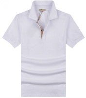 Valor Comprar Mens Casual Polo T-shirt Brit Style Algodão Camisetas Camisas Solontes de Lazer De Manga Curta Sport Spring Outono Sólido Camiseta