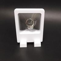 الجملة PET مطاطا غشاء النافذة مجوهرات عرض موقف سحر حلقة عملة حلق قلادة اكسسوارات صندوق 3D الماس عرض القضية 7 9CM *