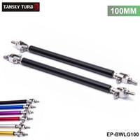 TANSKY - 2PCS / SET 100mm 조정 가능한 앞 범퍼 립 스플리터 스트럿로드 타이 지원 막대 도요타 BMW 혼다 EP-BWLG100 용