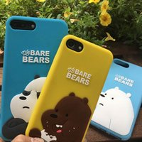 3D Bare Bear Cute Cartoon Silicon cover for Iphone 6 6s plus...