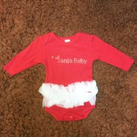 Baby Girls Clothes Christmas Cotton Romper Long Sleeve Round...