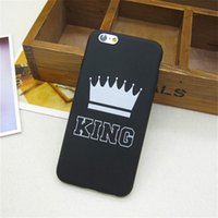 Fashion Brand King Queen Soft TPU Ultra Thin Back Covers for...