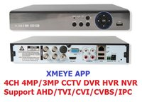 Xmeye app 5IN1 4MP AHD DVR NVR XVR CCTV 4Ch 1080P 3MP 5MP Hy...