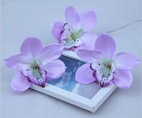 Simulatie orchidee cymbidium bloem hoofden diy sieraden accessoires bruiloft nieuw jaar thuis haar decoratieve bloemen G2