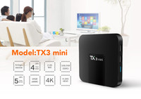 Nuovo arrivo TX3 mini Android 7.1 TV BOX amlogic S905W quad core da 1 GB / 8 GB con lettore multimediale integrato WIFI
