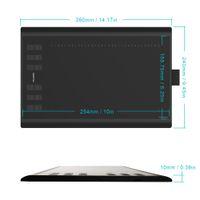Nuevo Huion 1060 Plus Pen Tablet Tableta de dibujo gráfico 8192 Nivel Tablero de dibujo digital Pen Tablet Digitalizador