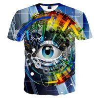 3D T 셔츠 뜨거운 t- 셔츠 남자 / 여자 3d T 셔츠 디지털 인쇄 기계 기어 눈 T- 셔츠 플러스 크기 여름 정상 티 즈