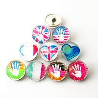 faddish 20pcs lot 18mm belief Glass Snap Buttons Charms Fit ...