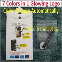 1 yılında 7 Renkler LED Parlayan Logo iPhone 6 6 S 6 Artı 6 S Artı Lümen LED Parlatıcı Logo flex Renkler Otomatik Olarak Değiştir