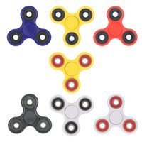 Fidget Spinner Tri Acier inoxydable 360 ​​° Hand Dying Spinners Hybrid Rotation Bearing Spin Widget EDC Acrylic Plastic Toys H18189