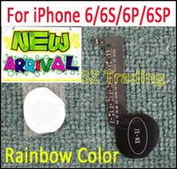 IPhone 6 6 S için Gökkuşağı Renkli LED Logo DIY Lüminesans LED Işık Parlayan Logo Mod Panel Kiti Için iphone6 6 S Artı Geri Konut