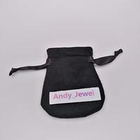 Bolsas de terciopelo de joyería negras bolsas para la joyería de estilo Pandora Charm Charm Bead Collar Pendientes Pendientes Colgante Packaging New Llegada Venta caliente
