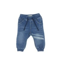 Baby Clothing Boy Jeans Pants Long Knitting Denim Soft Solid...