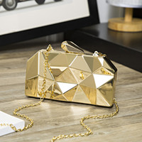Hot Sellers Woman Evening bag Gold Glittered Clutch bags Wal...