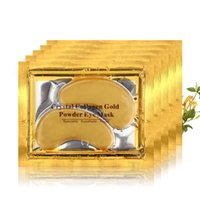 Rosotena DHL 10000 pcs / lote máscara de olho dourada mulheres pálpebras pálpebras / cristal colágeno ouro escuro círculo anti-envelhecimento
