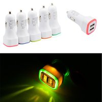 5V 2. 1A Dual USB Ports Led Light Car Charger Adapter Univers...