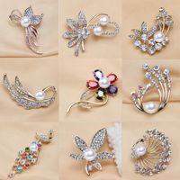 Mljy Silber Brosche Strass Perle Blume Broschen Pins Für Frauen Hochzeit Schmuck Mode Zubehör 9 Stil