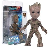 Action Figures 15cm Tree Man Groot Action Figure Toy PVC Marvel Movie Hero Modello Doll Toy Guardians of the Galaxy Boy Gift
