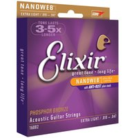 Wholesale 12 Sets Elixir NANOWEB 16002 010- 047 Phosphor Bron...