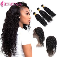 9a 360 Closure And Hair 360 Curly Kinky Hair With Bundles Ea...