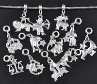 MIX mixto zodiaco encantos cuelgarse perlas colgar pulsera pendientes pendientes bricolaje joyería haciendo hallazgos accesorios 120pcs / lot