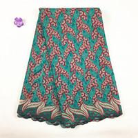 Sıcak Satış Afrika İsviçre Vual Dantel, 037 Ücretsiz Kargo (5 yards / paketi), 100% pamuk Afrika Düğün Kuru Dantel Giysileri