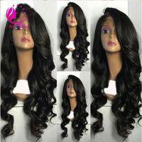 Лучшая полная плотность девственница бразильские человеческие волосы свободная волна парик Glueless Реми дешевые человеческие волосы полный парик шнурка с боковой челкой
