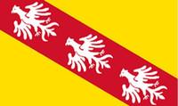 Frankreich Region Lorraine Flagge 3ft x 5ft Polyester Banner Flying 150 * 90cm Benutzerdefinierte Flagge