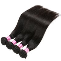 Dyeable Unprocessed Human Hair Weaves Brazilian Malaysian Indian Peruvian Cambodian Mongolian Straight Hair Bundles Natural Color Straight