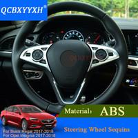 QCBXYYXH 2pcs ABS 자동차 스타일링 내부 장식 스티커 뷰 익 오른쪽 오펠 휘장 2017 2018 스티어링 휠 장식 조각 스티커