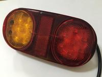 1pair 14 led 10-30 12V ovale LED Caravan camion spia di rimorchio coda di arresto del freno della luce della lampada di rimorchi VAN luci esterne